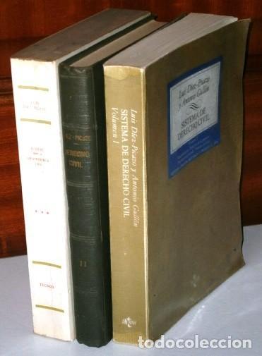 SISTEMA DE DERECHO CIVIL 3T POR LUIS DÍEZ PICAZO Y ANTONIO GULLÓN DE ED. TECNOS EN MADRID 1981 (Libros de Segunda Mano - Ciencias, Manuales y Oficios - Derecho, Economía y Comercio)