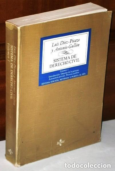 Libros de segunda mano: Sistema de Derecho Civil 3T por Luis Díez Picazo y Antonio Gullón de Ed. Tecnos en Madrid 1981 - Foto 2 - 22129139