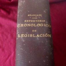 Libros de segunda mano: REPERTORIO CRONOLÓGICO DE LEGISLACIÓN 1937. Lote 220451210