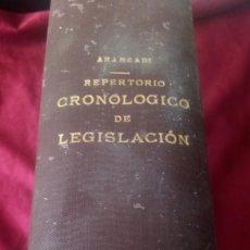 Libros de segunda mano: REPERTORIO CRONOLÓGICO DE LEGISLACIÓN 1939. Lote 220451348