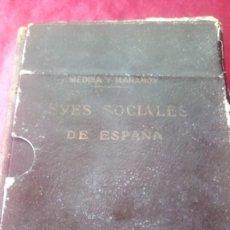 Libros de segunda mano: LEYES SOCIALES DE ESPAÑA. Lote 220462243