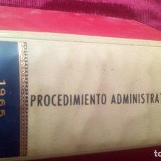Libros de segunda mano: PROCEDIMIENTO ADMINISTRATIVO. Lote 220463867