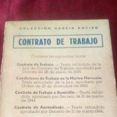 Libros de segunda mano: CONTRATO DE TRABAJO. Lote 220469616