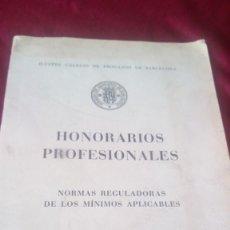 Libros de segunda mano: HONORARIOS PROFESIONALES. Lote 220489633