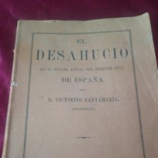 Libros de segunda mano: EL DESHAUCIO. Lote 220490080