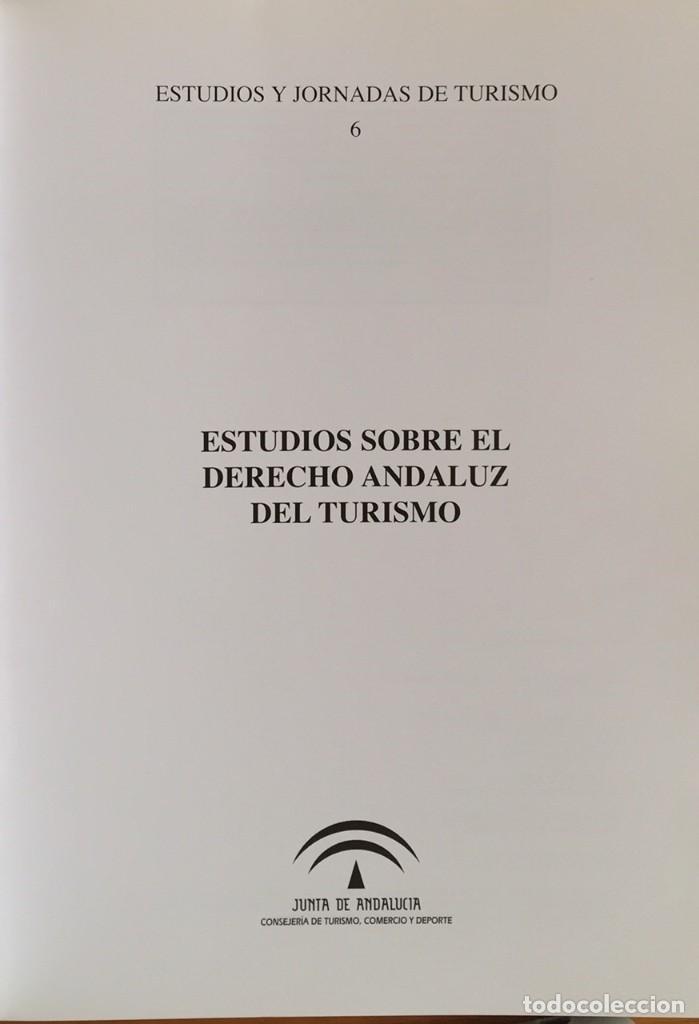 Libros de segunda mano: Derecho y turismo andaluz - Foto 2 - 220868848