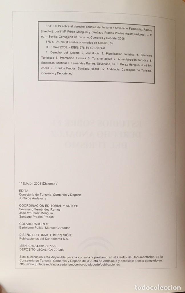 Libros de segunda mano: Derecho y turismo andaluz - Foto 3 - 220868848