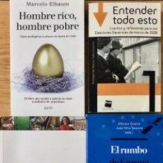Libros de segunda mano: LOTE 4 LIBROS MANUALES ECONOMIA EL RUMBO DE EUROPA LAS NACIONES UNIDAS HOY HOMBRE RICO POBRE. Lote 221409233