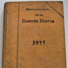 Libros de segunda mano: MEMORANDUM DE LA CUENTA DIARIA PARA 1935 - BAILLY-BAILLIERE - USADO CON ANOTACIONES DE GASTOS ÉPOCA. Lote 221457783