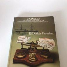 Libros de segunda mano: PAPELES DE LA ECONOMÍA ESPAÑOLA - EL DÉFICIT EXTERIOR. Lote 221672281