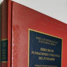 Libros de segunda mano: DERECHO DE FUNDACIONES Y VOLUNTAD DEL FUNDADOR.. Lote 221804992