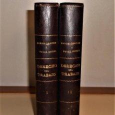Libros de segunda mano: EXCELENTE ENCUADERNACIÓN ARTESANAL,DERECHO DEL TRABAJO, G. BAYÓN Y E. PÉREZ , 1965 6ª EDICIÓN. Lote 221905737