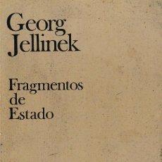 Libros de segunda mano: FRAGMENTOS DE ESTADO (GEORG JELLINEK, 1978) SIN USAR. Lote 222763677