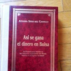 Libros de segunda mano: ASÍ SE GANA EL DINERO EN LA BOLSA. ANTONIO SÁEZ DEL CASTILLO. Lote 222792230