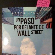 Libri di seconda mano: UN PASO POR DELANTE DE WALL STREET - PETER LYNCH. Lote 253210590