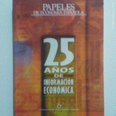 Libros de segunda mano: PAPELES ECONOMIA ESPAÑOLA. Nº 100. 2 VOLUMENES EDITADOS EN 2004. VER SUMARIO Y DESCRIPCION.. Lote 226043905
