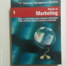 Libros de segunda mano: MASTER EN MARKETING. COLECCION MANAGEMENT DEUSTO. VER DESCRIPCION Y SUMARIO.. Lote 226073990