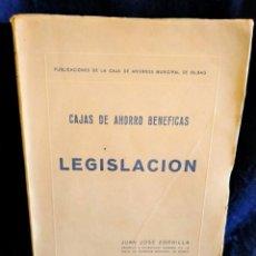 Libros de segunda mano: CAJAS DE AHORROS BENÉFICAS. LEGISLACION. LB8. Lote 226227480