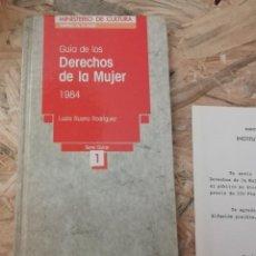 Libros de segunda mano: GUIA DE LOS DERECHOS DE LA MUJER 1984 - LUCÍA RUANO RODRÍGUEZ. Lote 226399838