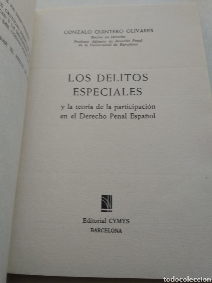 Libros de segunda mano: LOS DELITOS ESPECIALES Y LA TEORÍA DE LA PARTICIPACIÓN/GONZALO QUINTERO OLIVARES - Foto 2 - 228216050