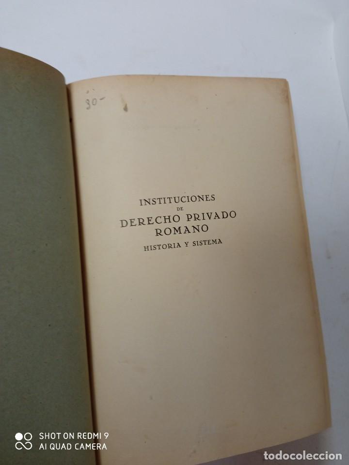 INSTITUCIONES DE DERECHO PRIVADO ROMANA (Libros de Segunda Mano - Ciencias, Manuales y Oficios - Derecho, Economía y Comercio)