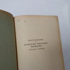 Libros de segunda mano: INSTITUCIONES DE DERECHO PRIVADO ROMANA. Lote 229212890