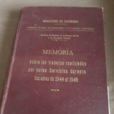 Libros de segunda mano: SERVICIO DE CATASTRO DE LA RIQUEZA RUSTICA Y DE VALORACION FORESTAL 1944 AL 1948 .MINIST DE HACIENDA. Lote 231302690