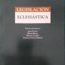 Libros de segunda mano: LEGISLACIÓN ECLESIÁSTICA -- JUAN FORNÉS Y OTROS. Lote 232333385
