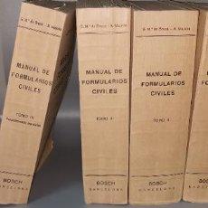 Libros de segunda mano: PRÁCTICA PROCESAL CIVIL. 17ª EDICIÓN DEL MANUAL DE FORMULARIOS CIVILES.4 TOMOS AÑO 1966. Lote 233441685