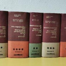 Libros de segunda mano: COMPENDIO DE DERECHO PROCESAL CIVIL Y PENAL. 3 TOMOS, 10 VOLS - SAEZ JIMÉNEZ. JESÚS, / E. L. FDEZ.. Lote 234099545