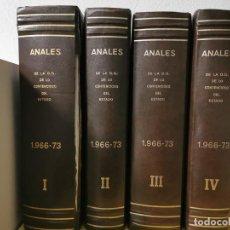 Libros de segunda mano: ANALES DE LA DIRECCION GENERAL DE LO CONTENCIOSO DEL ESTADO 1966-1973 4 TOMOS. Lote 234109985