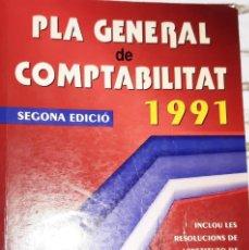 Libros de segunda mano: PLA GENERAL COMPTABILITAT 1991 SEGONA EDICIO. Lote 234128340