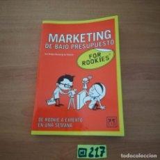 Libros de segunda mano: MARKETING DE BAJO PRESUPUESTO. Lote 234364425