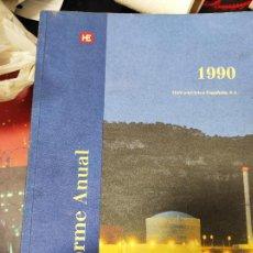 Libros de segunda mano: INFORME ANUAL HIDROELÉCTRICA ESPAÑOLA, S.A. 1990. Lote 235487495