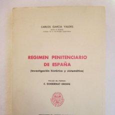 Libros de segunda mano: CARLOS GARCÍA VALDÉS Y ENRIQUE GIMBERNAT ORDEIG. RÉGIMEN PENITENCIARIO DE ESPAÑA: INVESTIGACIÓN. Lote 235512360