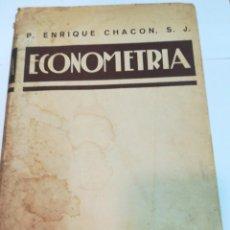 Libros de segunda mano: P. ENRIQUE CHACON ECONOMETRIA TOMO I SA2447. Lote 236099830
