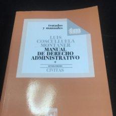 Libros de segunda mano: MANUAL DE DERECHO ADMINISTRATIVO, I. 1997 LUIS COSCULLUELA MONTANER. CIVITAS. Lote 236319225