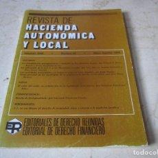 Libros de segunda mano: REVISTA DE HACIENDA AUTONOMICA Y LOCAL - VOLUMEN XXIII NÚMERO 68 - MAYO/AGOSTO 1993. Lote 237029410