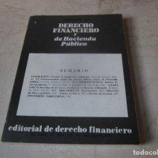 Libros de segunda mano: REVISTA DE DERECHO FINANCIERO Y DE HACIENDA PUBLICA - VOL. XXXV - NUM. 178 - JULIO/AGOSTO 1985. Lote 237029730