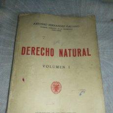 Libros de segunda mano: (1972),DERECHO NATURAL, UNIVERSIDAD COMPLUTENSE MADRID.. Lote 237371055