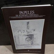 Libros de segunda mano: PAPELES DE ECONOMIA ESPAÑOLA....NUMERO 44...1990..... Lote 240803060