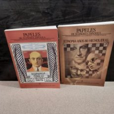 Libros de segunda mano: PAPELES DE ECONOMIA ESPAÑOLA...NÚMEROS..27 Y 28.....1986.... Lote 241087155