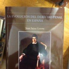 Libros de segunda mano: SAINZ GUERRA LA EVOLUCION DEL DERECHO PENAL. Lote 241221475