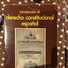 Libros de segunda mano: FRAILE CLIVILLES INTRODUCCIÓN AL DERECHO CONSTITUCIONAL ESPAÑOL. Lote 241233975