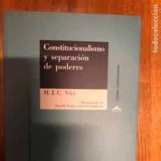 Livres d'occasion: VILE CONSTITUCIONALISMO Y SEPARACION DE PODERES. Lote 241254470