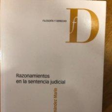 Libros de segunda mano: HERNANDEZ MARTIN RAZONAMIENTO SENTENCIA JUDICIAL. Lote 241302095