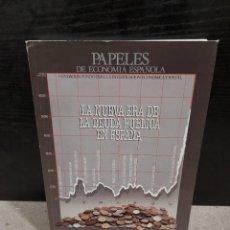Libros de segunda mano: PAPELES DE ECONOMIA ESPAÑOLA...NÚMERO 33...1987..... Lote 241647755
