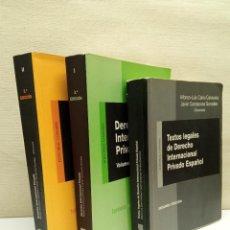 Livros em segunda mão: DERECHO INTERNACIONAL PRIVADO. CALVO CARAVACA - CARRASCOSA GONZALEZ. ED. COMARES. Lote 242374770