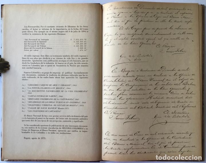 Libros de segunda mano: ACTAS DEL BANCO NACIONAL DE 1891 A 1894. Edición facsimilar de seguros Colombia. - Foto 2 - 244478835