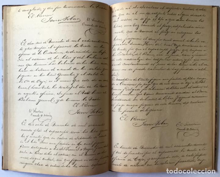 Libros de segunda mano: ACTAS DEL BANCO NACIONAL DE 1891 A 1894. Edición facsimilar de seguros Colombia. - Foto 3 - 244478835